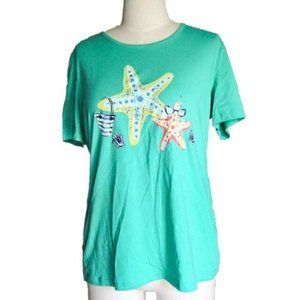 Coral Bay Starfish Graphic Tee Large